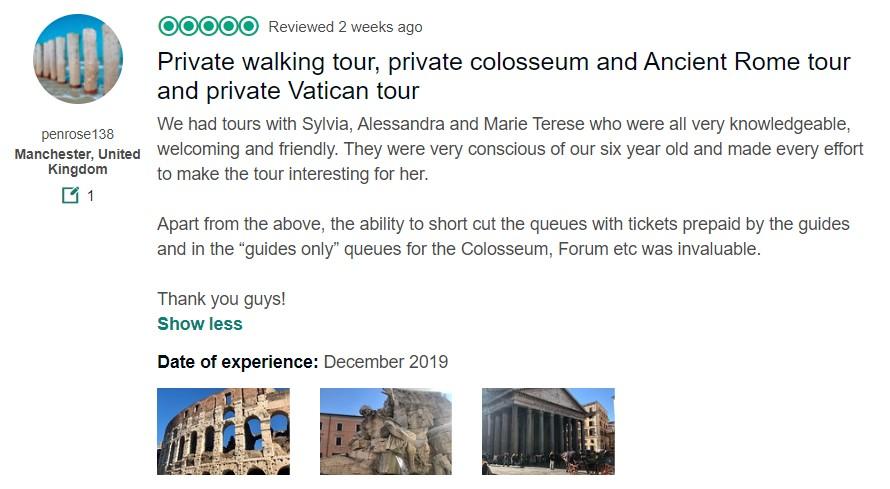 You Local Rome TripAdvisor Review