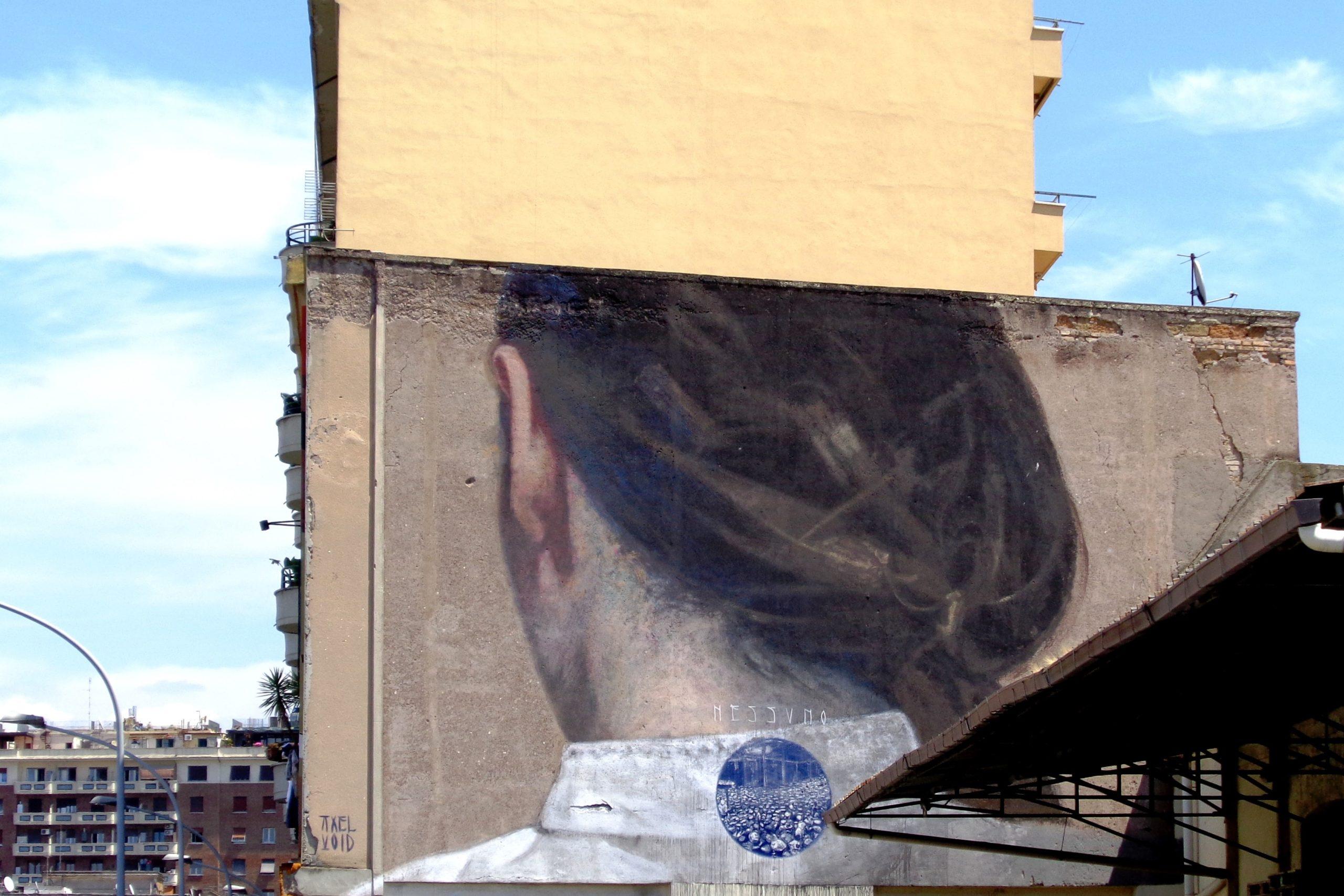 axel void murale ostiense roma