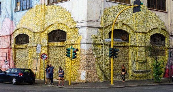 Murales Blu Via Del Porto Fluviale, Ostiense