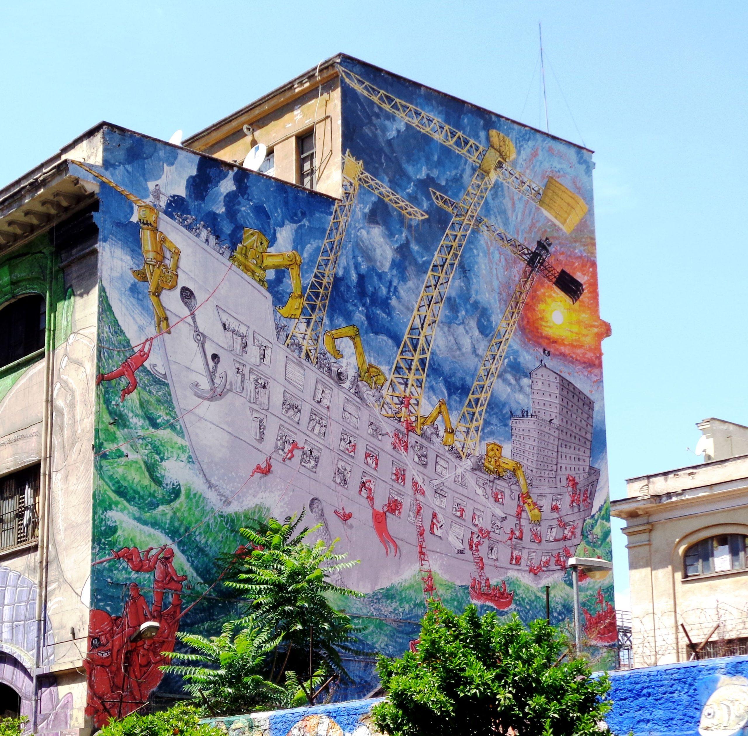 murales di blu in via del porto fluviale