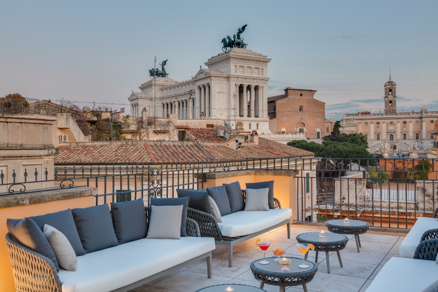 rooftop american bar a roma