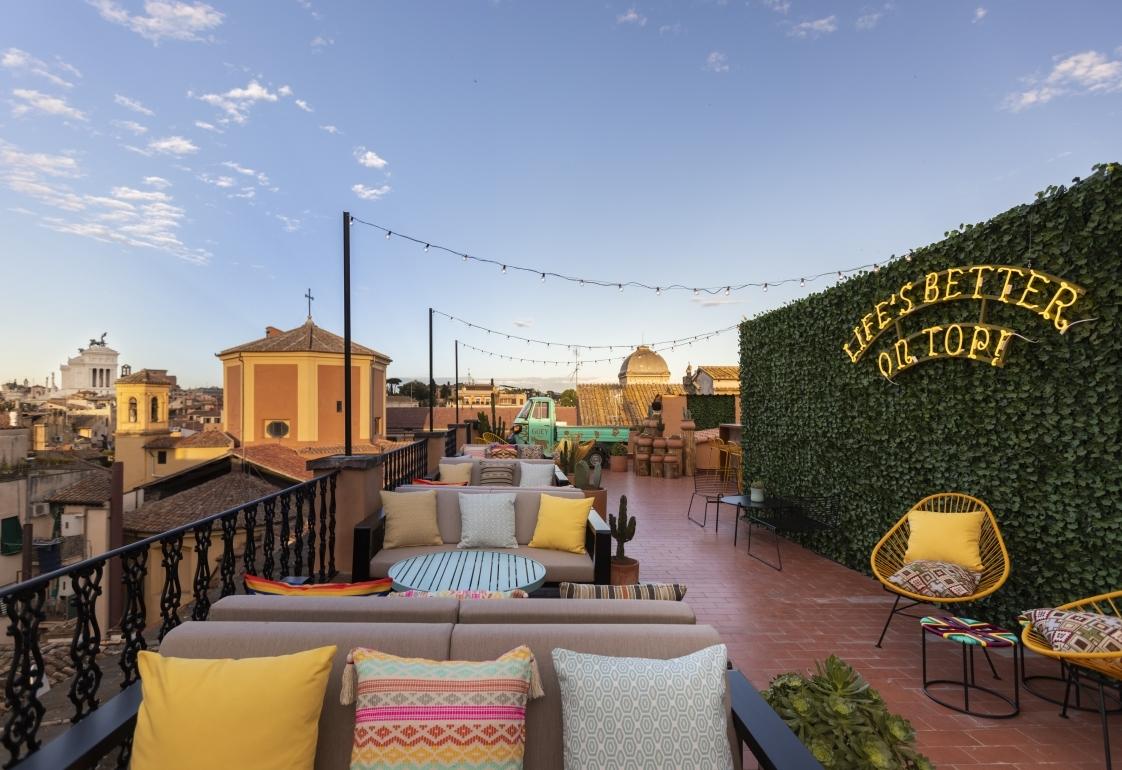 rooftop bar ghetto roma