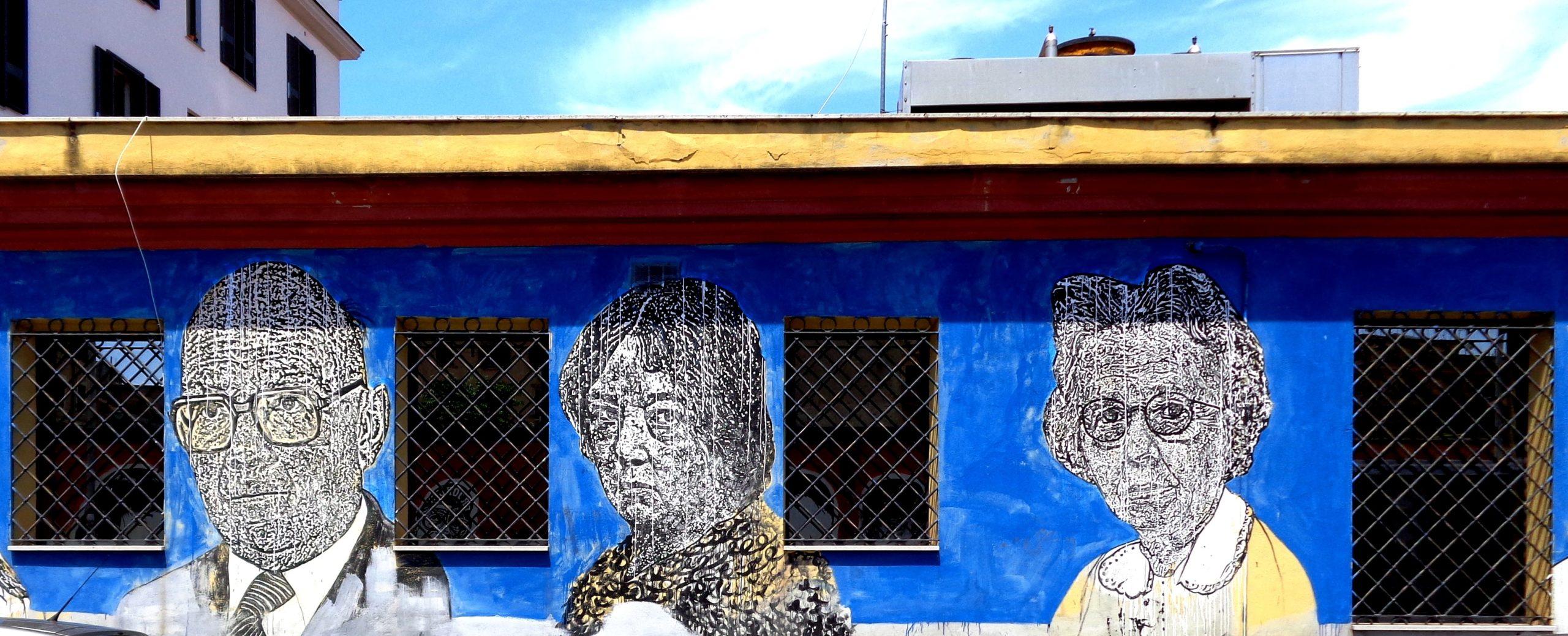 sten&lex street art via dei magazzini generali ostiense rome