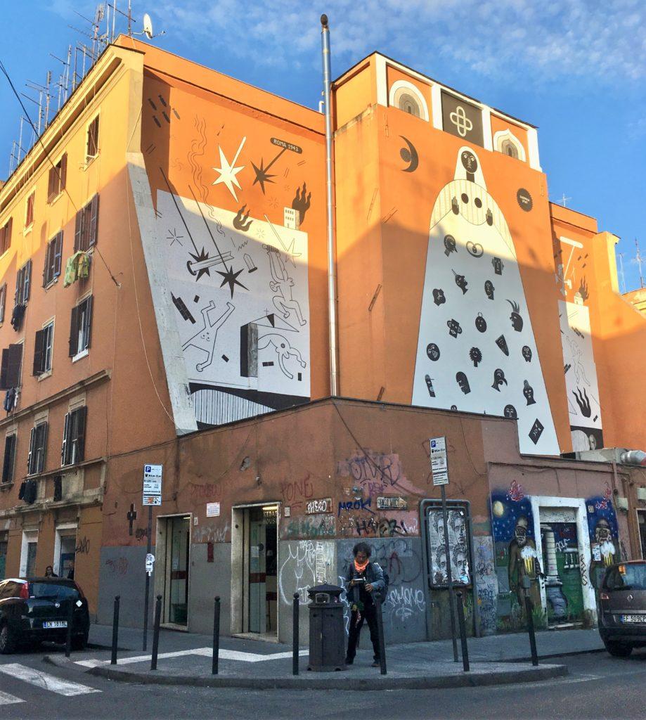 murales di guerrilla spam a san lorenzo