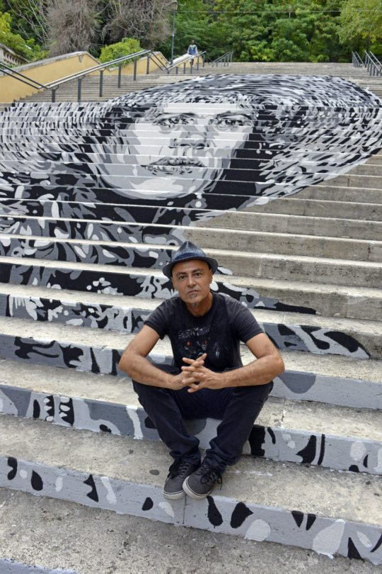 murales scalinata trastevere