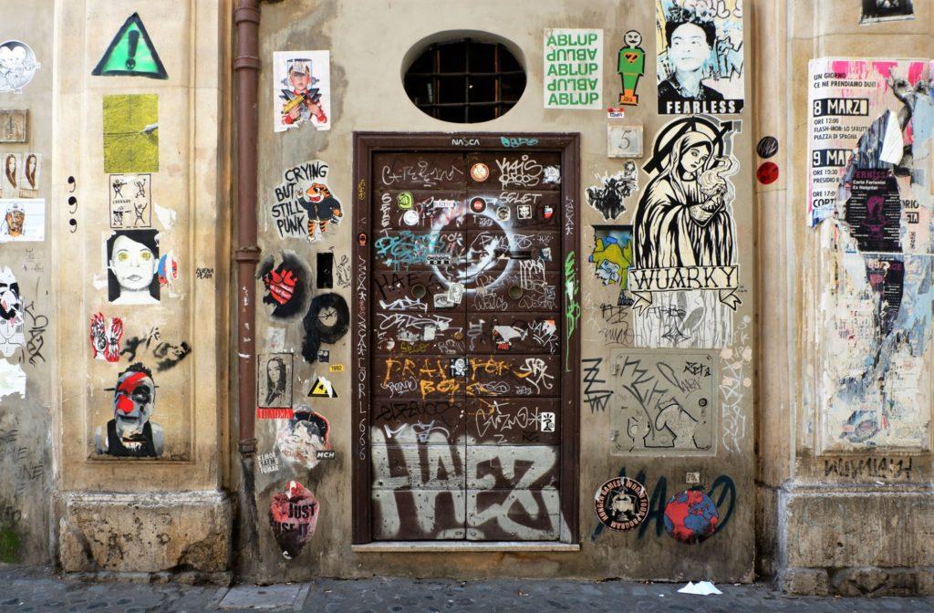 opere di street art a trastevere