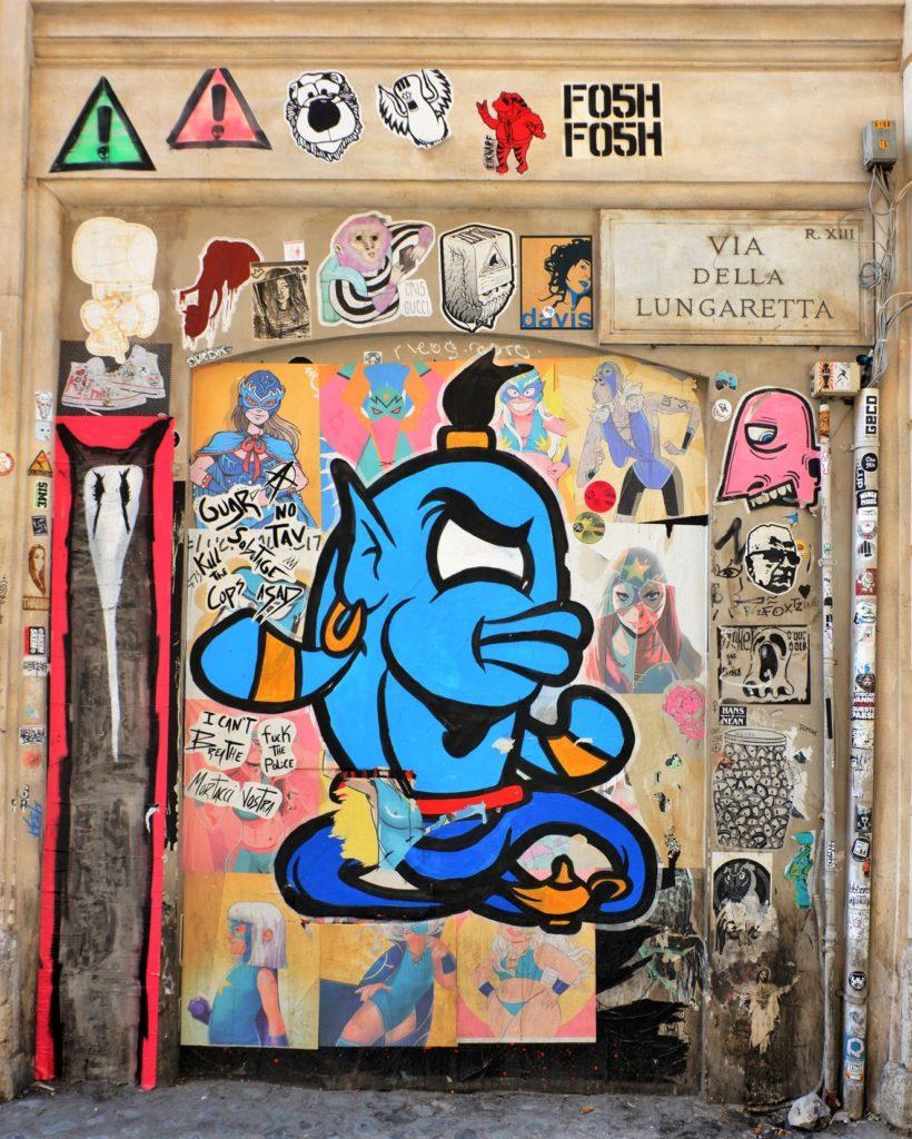 poster art trastevere via della lungaretta