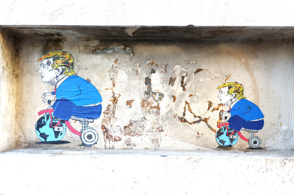 qwerty street art trastevere