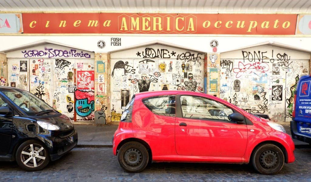 street art trastevere cinema america