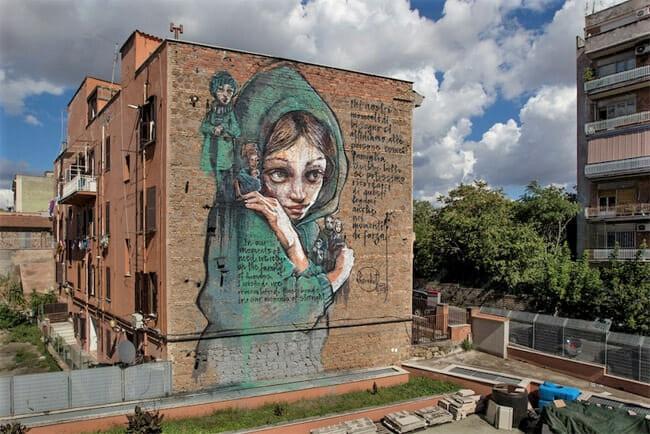 herakut murales roma