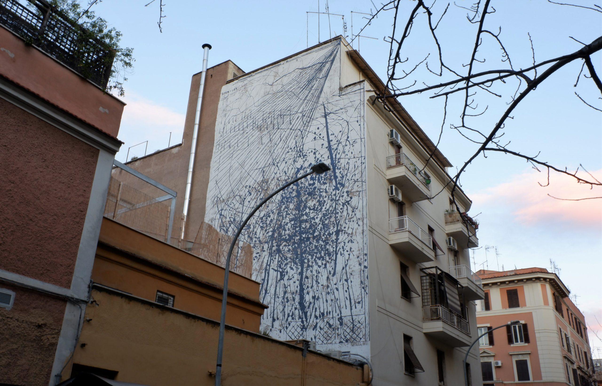 sten lex street art tor pignattara roma