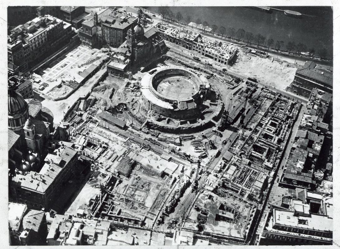 mausoleo di augusto durante le demolizioni