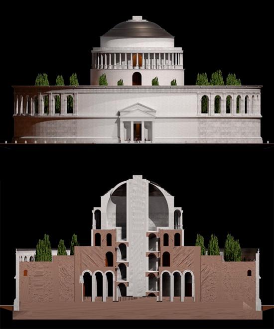 mausoleo di augusto ipotesi ricostruttiva