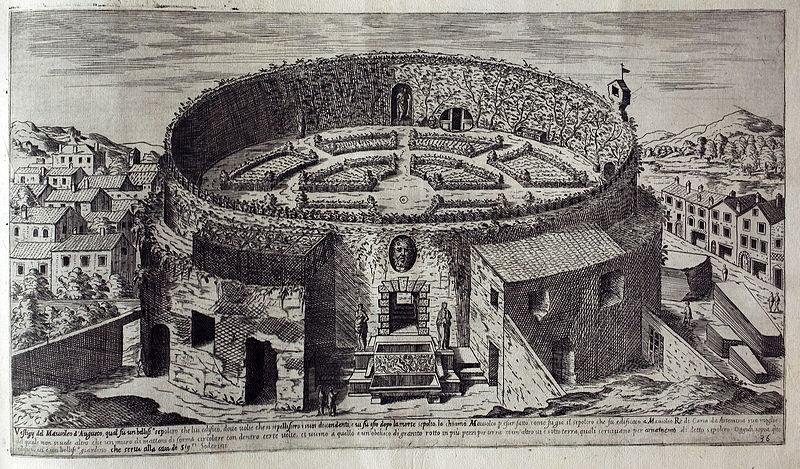 stampa etienne duperac mausoleo augusto