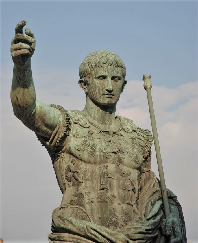 statua augusto fori imperiali